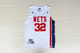 Brooklyn Nets # 32 Dr J Owen ABA retro white acura fans version of mes